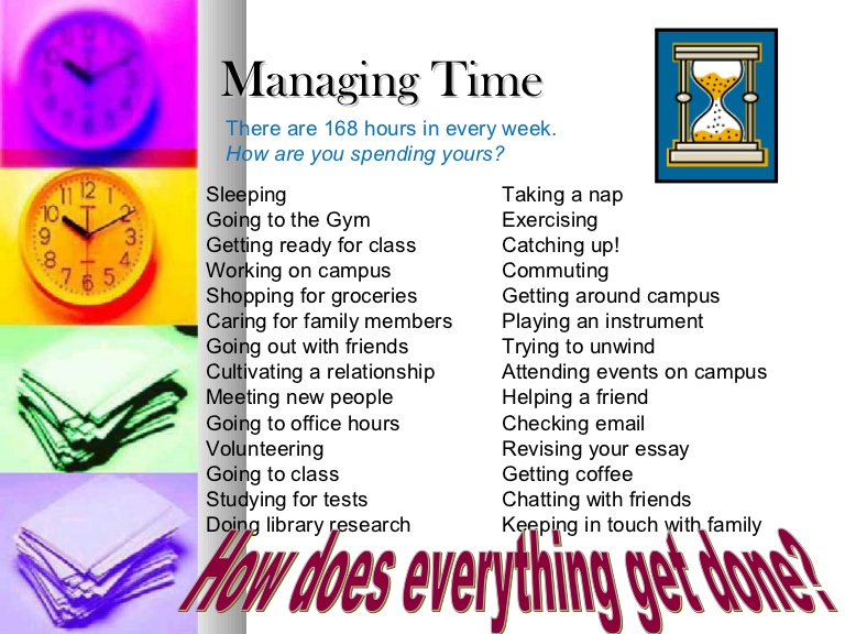 Tips for College Students time management